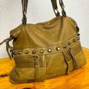 MARC BY MARC JACOBS Army Green Leather Hangbag